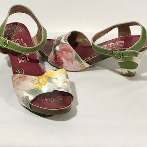Spring Step L'ARTISTE Sandals 39 8.5 Leather